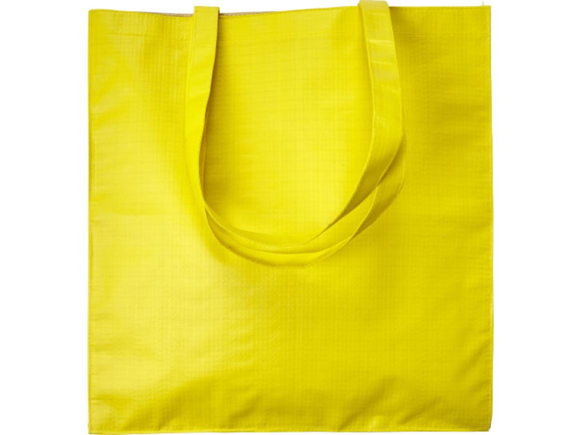 Einkaufstasche 'Twice' aus Papier – Gelb bedrucken, Art.-Nr. 006999999_7845