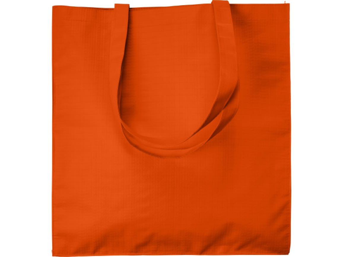 Einkaufstasche 'Twice' aus Papier – Orange bedrucken, Art.-Nr. 007999999_7845