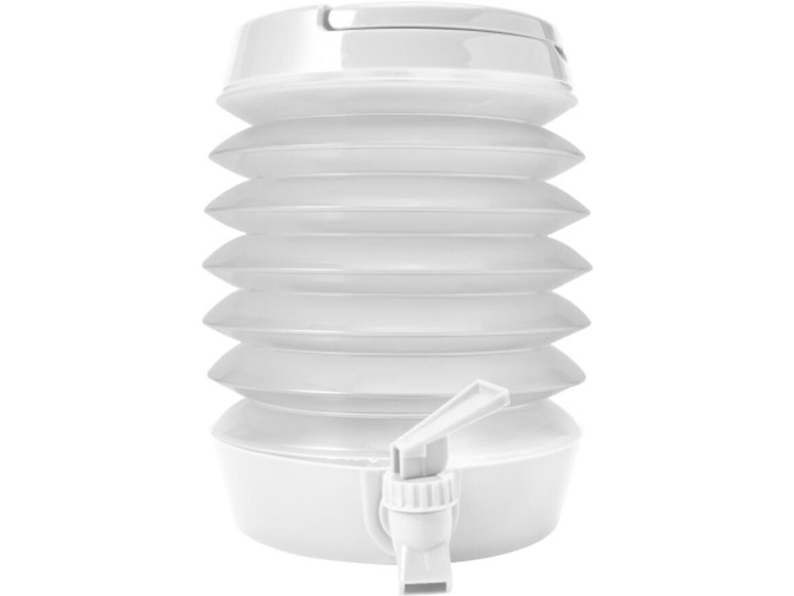 Getränkespender 'Foldable' aus Kuntstoff – Weiß bedrucken, Art.-Nr. 002999999_7847