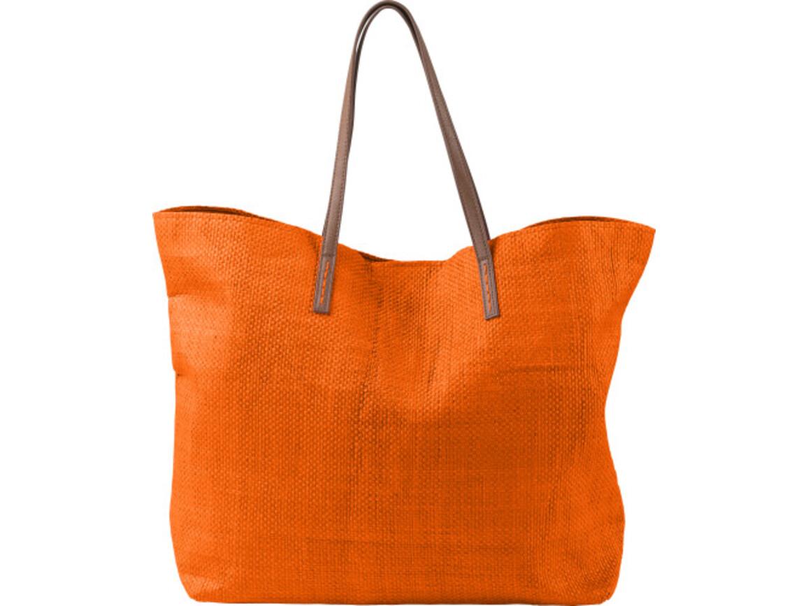 Strandtasche 'Calm' aus Papier – Orange bedrucken, Art.-Nr. 007999999_7856