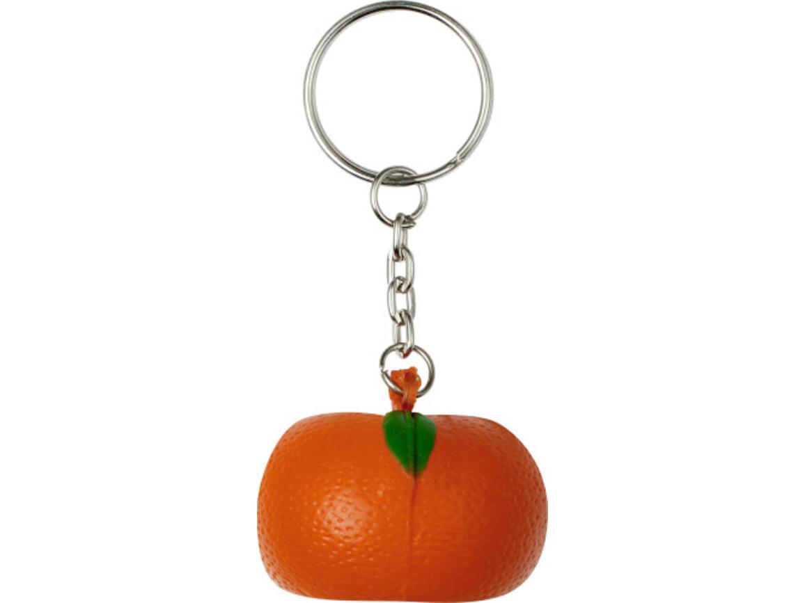 Schlüsselanhänger 'Fruit' aus PU Schaum – Orange bedrucken, Art.-Nr. 007999999_7864
