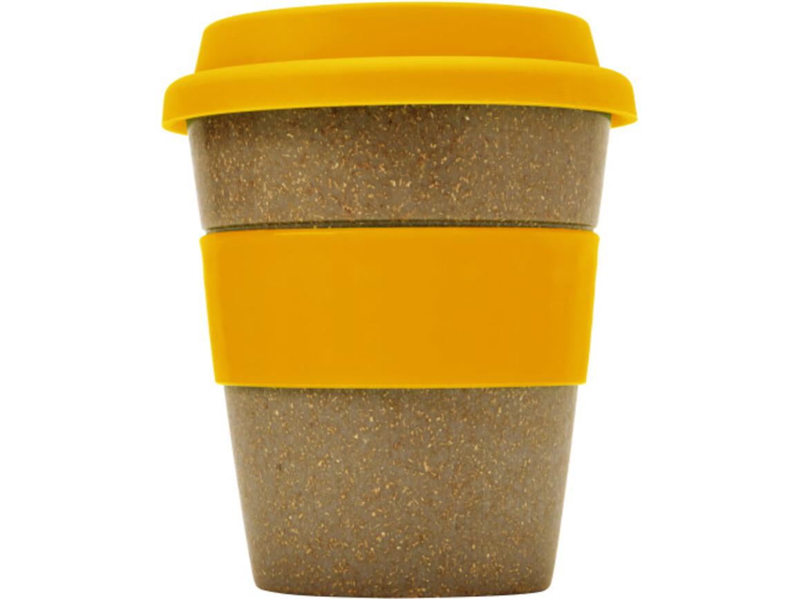 Coffee-to-go Becher 'Bamboo' aus Bambus – Orange bedrucken, Art.-Nr. 007999999_7874
