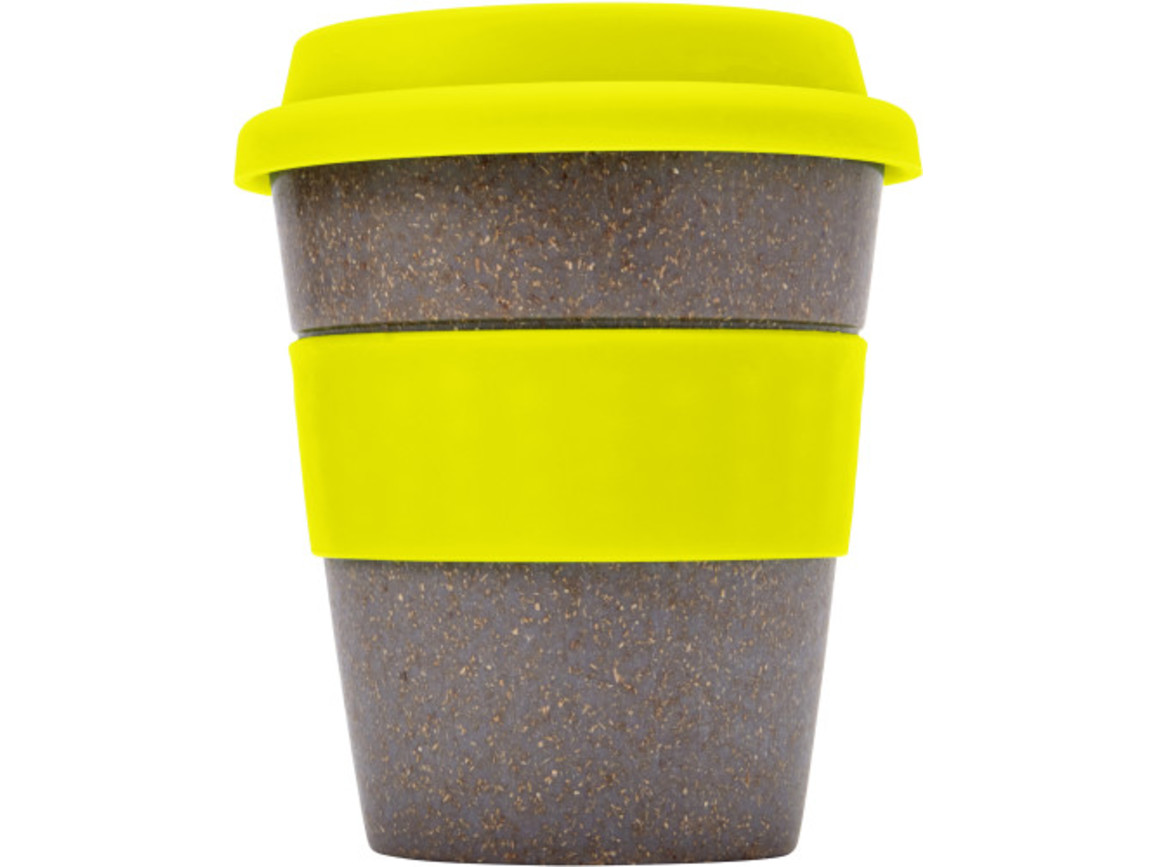 Coffee-to-go Becher 'Bamboo' aus Bambus – Gelb bedrucken, Art.-Nr. 006999999_7874