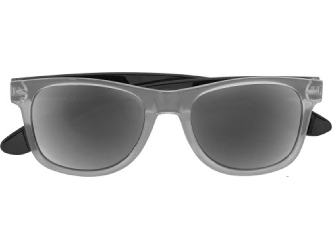Sonnenbrille 'Malta' aus Kunststoff – Schwarz bedrucken, Art.-Nr. 001999999_7887
