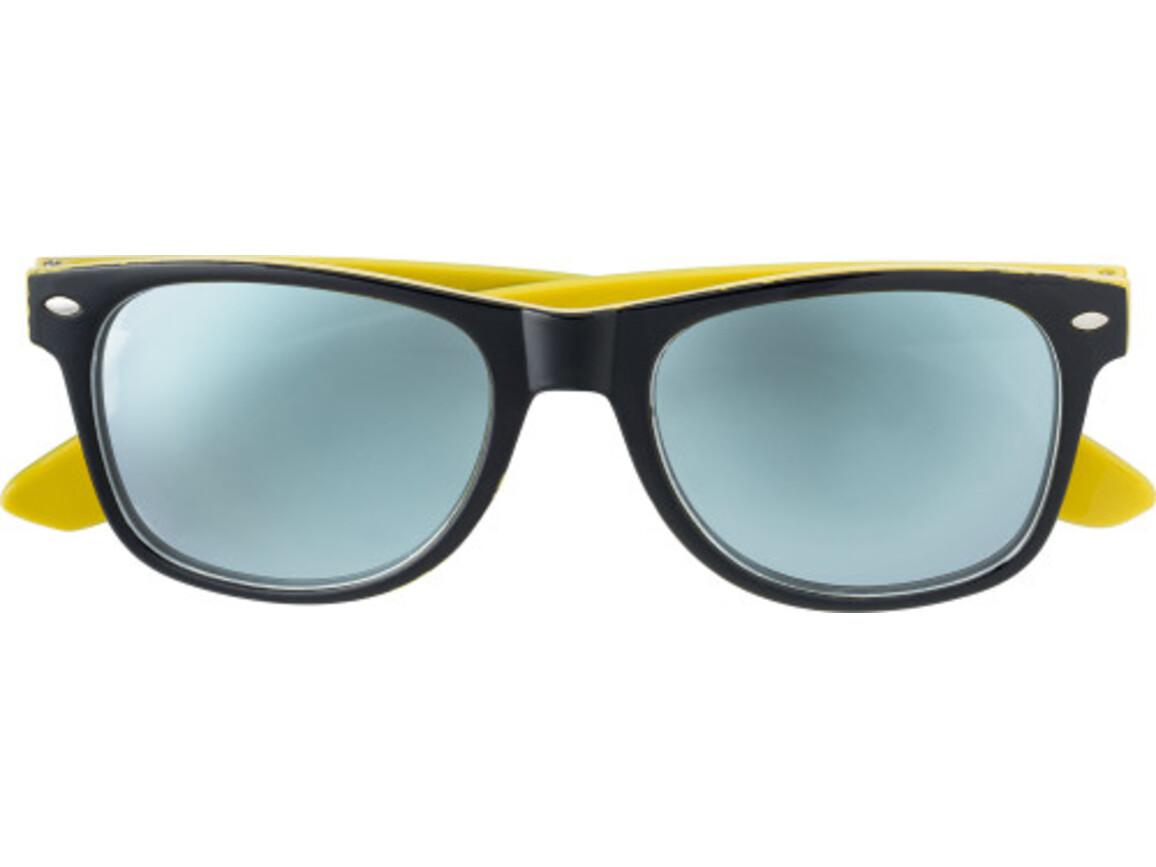 Sonnenbrille 'Menorca' aus Kunststoff – Gelb bedrucken, Art.-Nr. 006999999_7889
