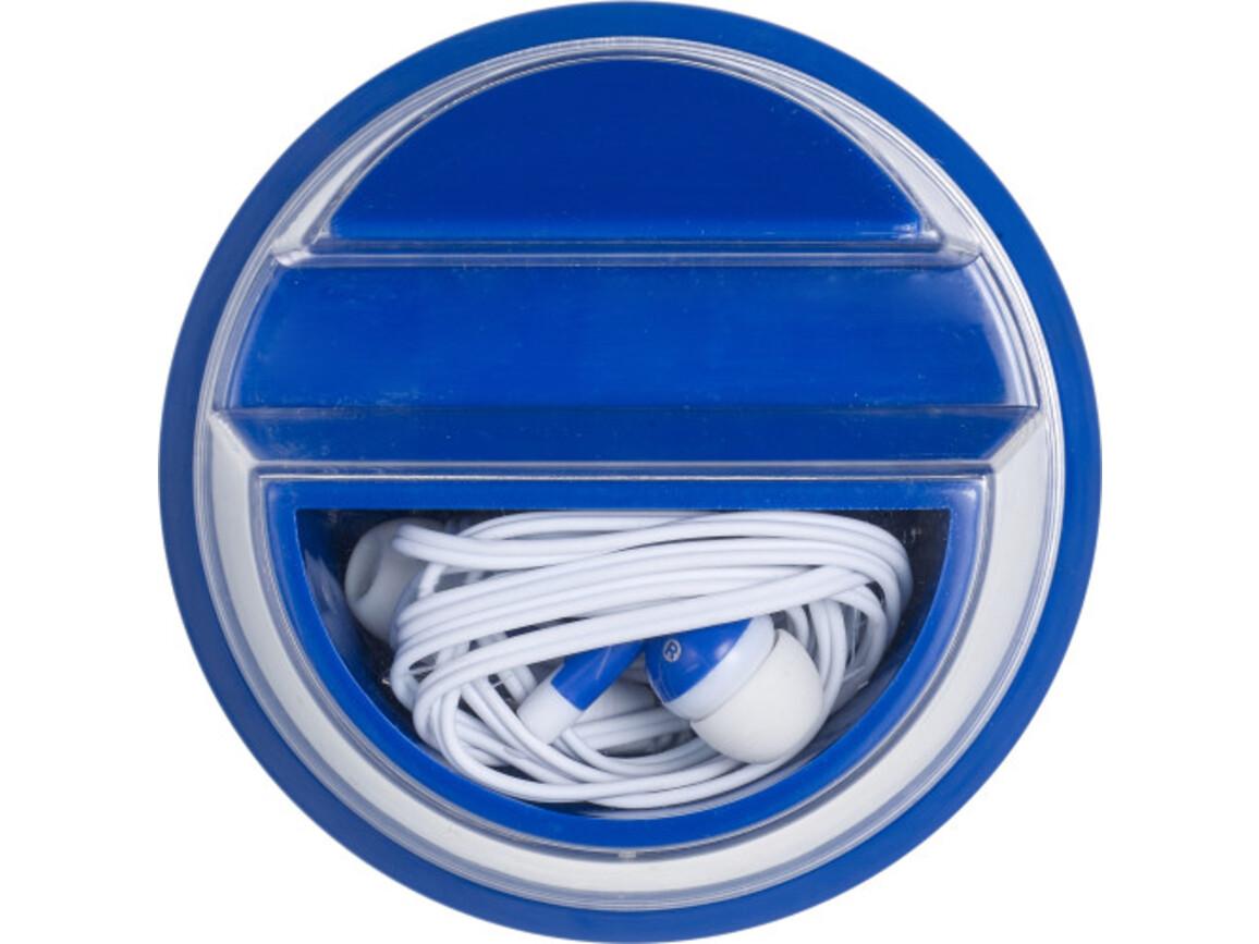 Kopfhörer 'Stand alone' aus Kunststoff – Blau bedrucken, Art.-Nr. 005999999_7898
