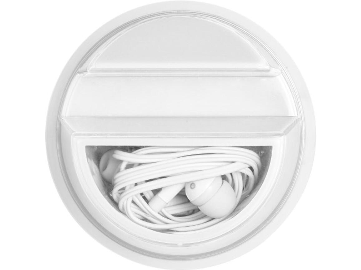 Kopfhörer 'Stand alone' aus Kunststoff – Weiß bedrucken, Art.-Nr. 002999999_7898