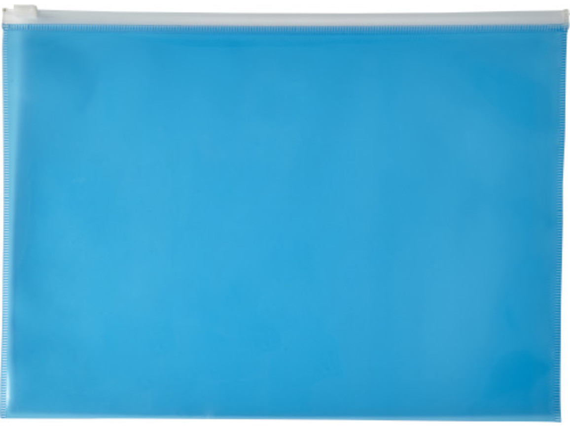 Dokumententasche 'Flexi' aus PVC – Blau bedrucken, Art.-Nr. 005999999_7901