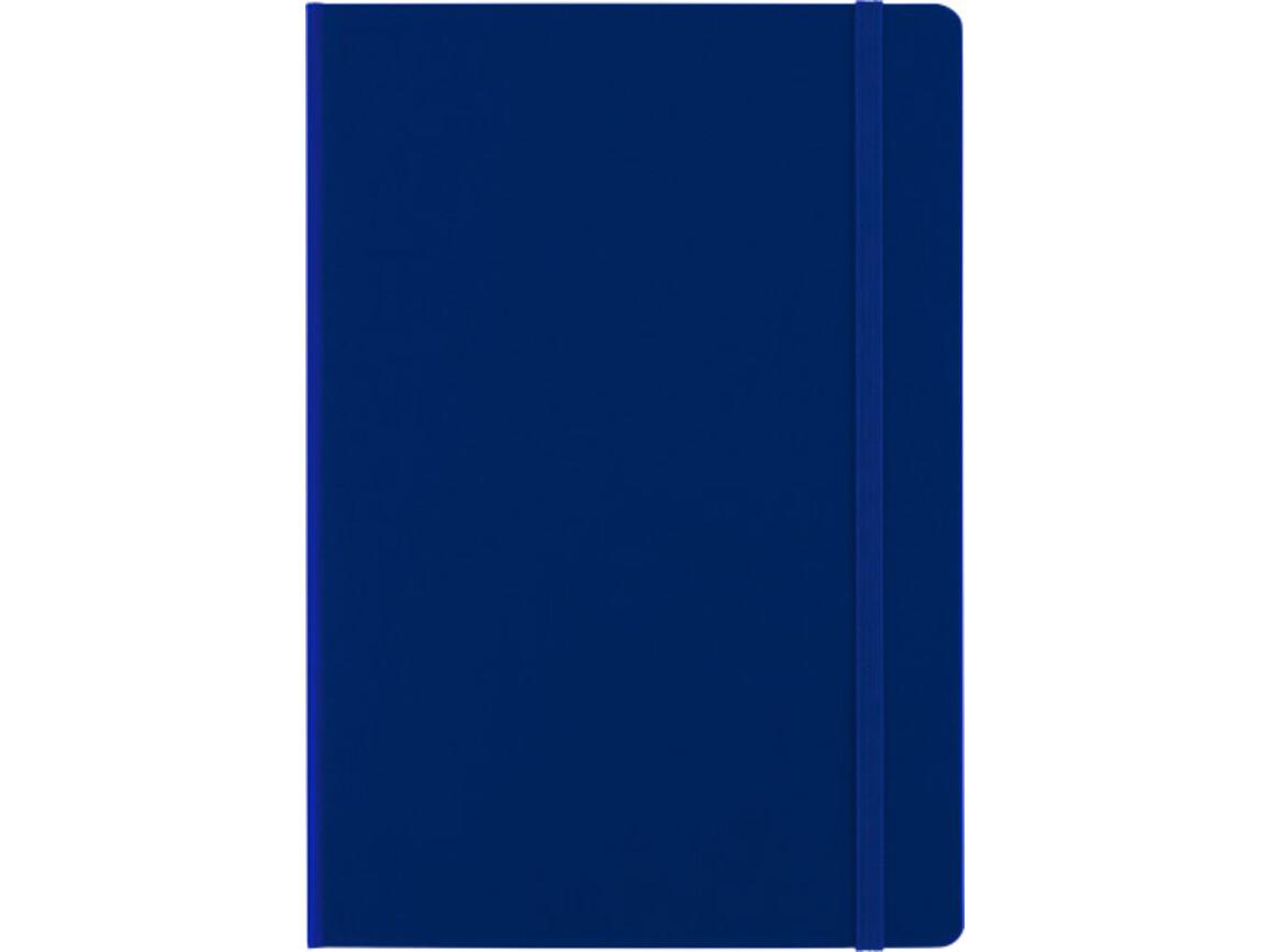 Notizbuch 'Biarritz' aus Karton (ca. DIN A5 Format) – Blau bedrucken, Art.-Nr. 005999999_7913