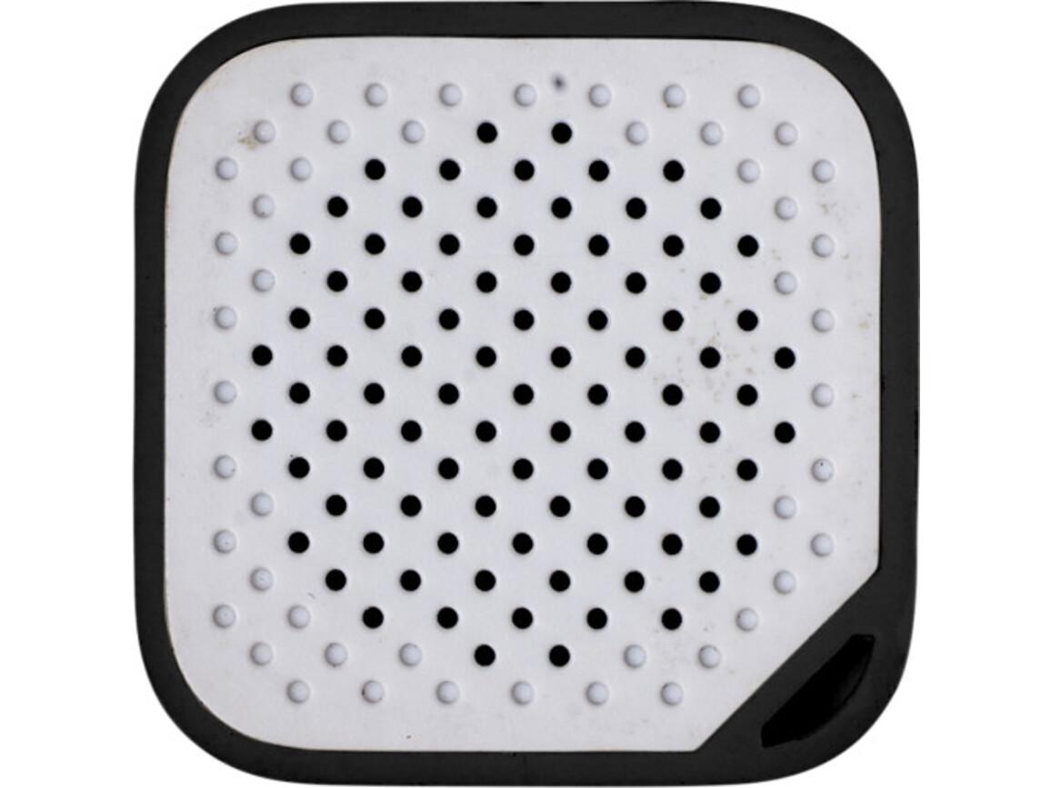 BT/Wireless-Lautsprecher 'Prio' aus Kunststoff – Schwarz bedrucken, Art.-Nr. 001999999_7917