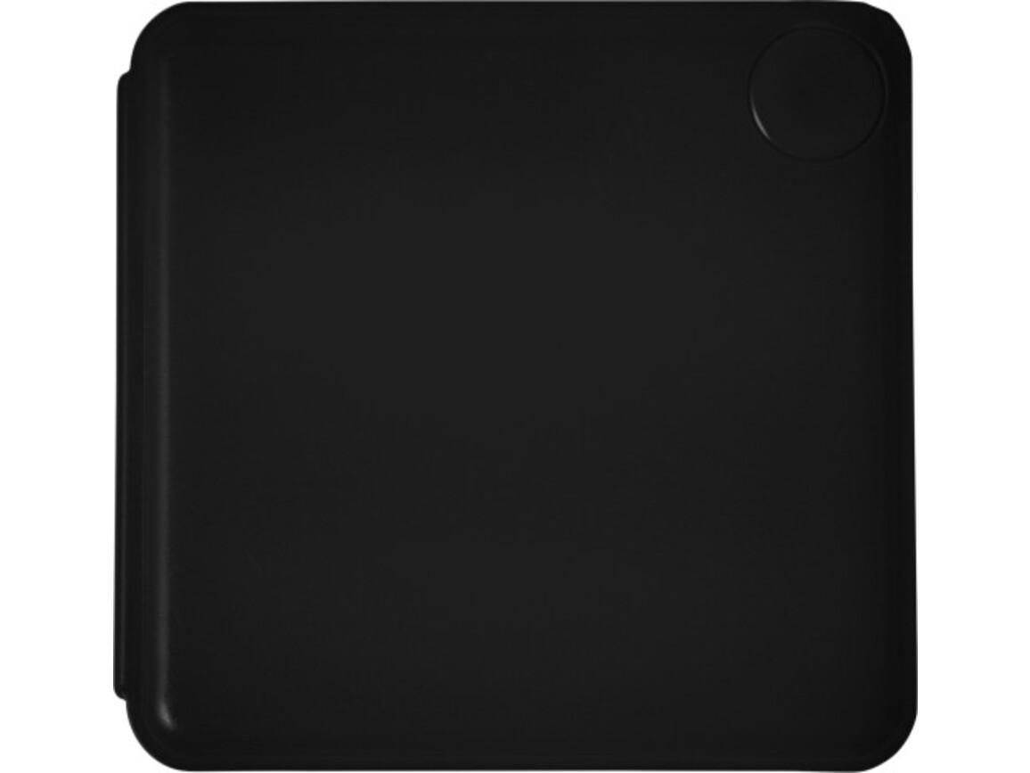 Haftnotiz-Box 'Swing' aus Kunststoff – Schwarz bedrucken, Art.-Nr. 001999999_7930