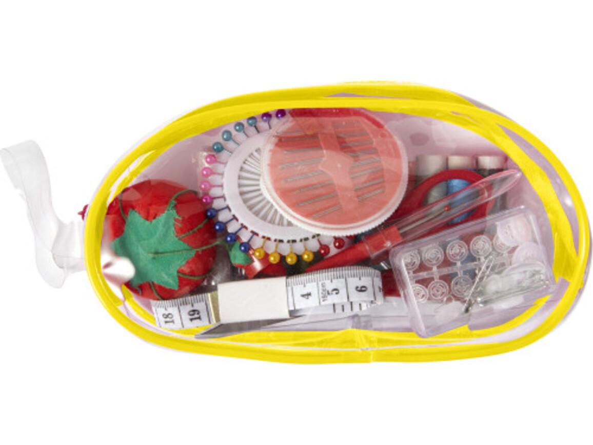 Nähset 'All in one' in transparenter PVC-Tasche – Gelb bedrucken, Art.-Nr. 006999999_7932