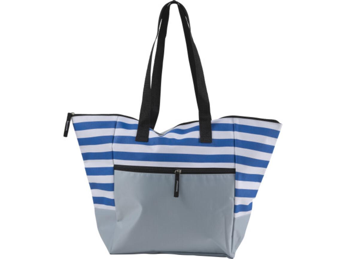 Strandtasche 'Maritim' aus Polyester – Blau bedrucken, Art.-Nr. 005999999_7953