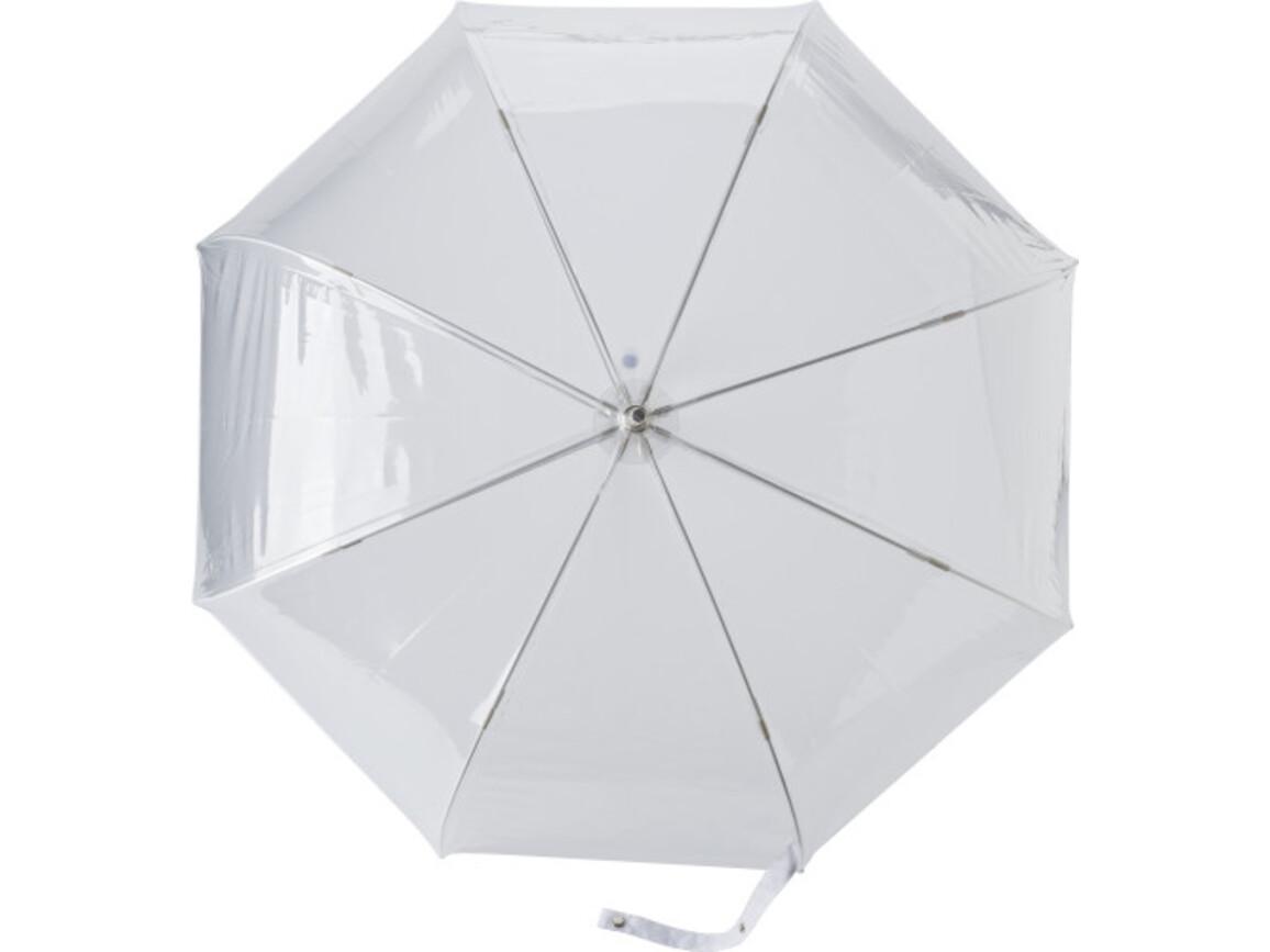 PVC-Regenschirm 'Skyline' – Weiß bedrucken, Art.-Nr. 002999999_7962
