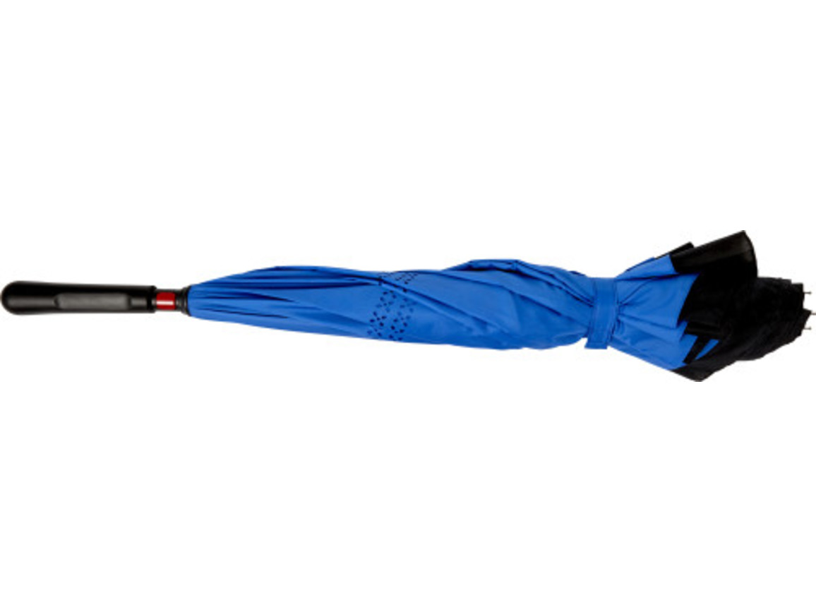Regenschirm 'Sky' aus Pongee-Seide – Blau bedrucken, Art.-Nr. 005999999_7963