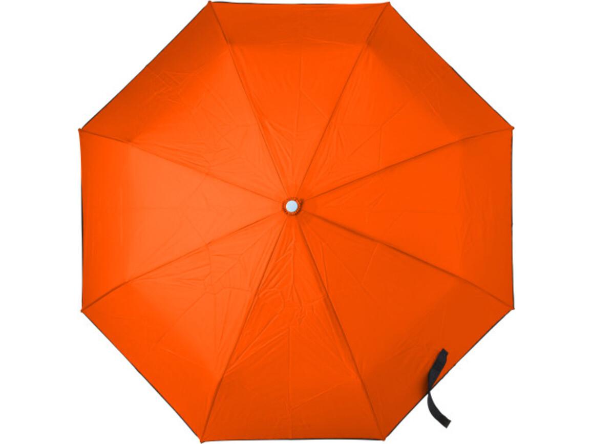 Automatik Taschenschirm 'Dina' aus Pongee-Seide – Orange bedrucken, Art.-Nr. 007999999_7964