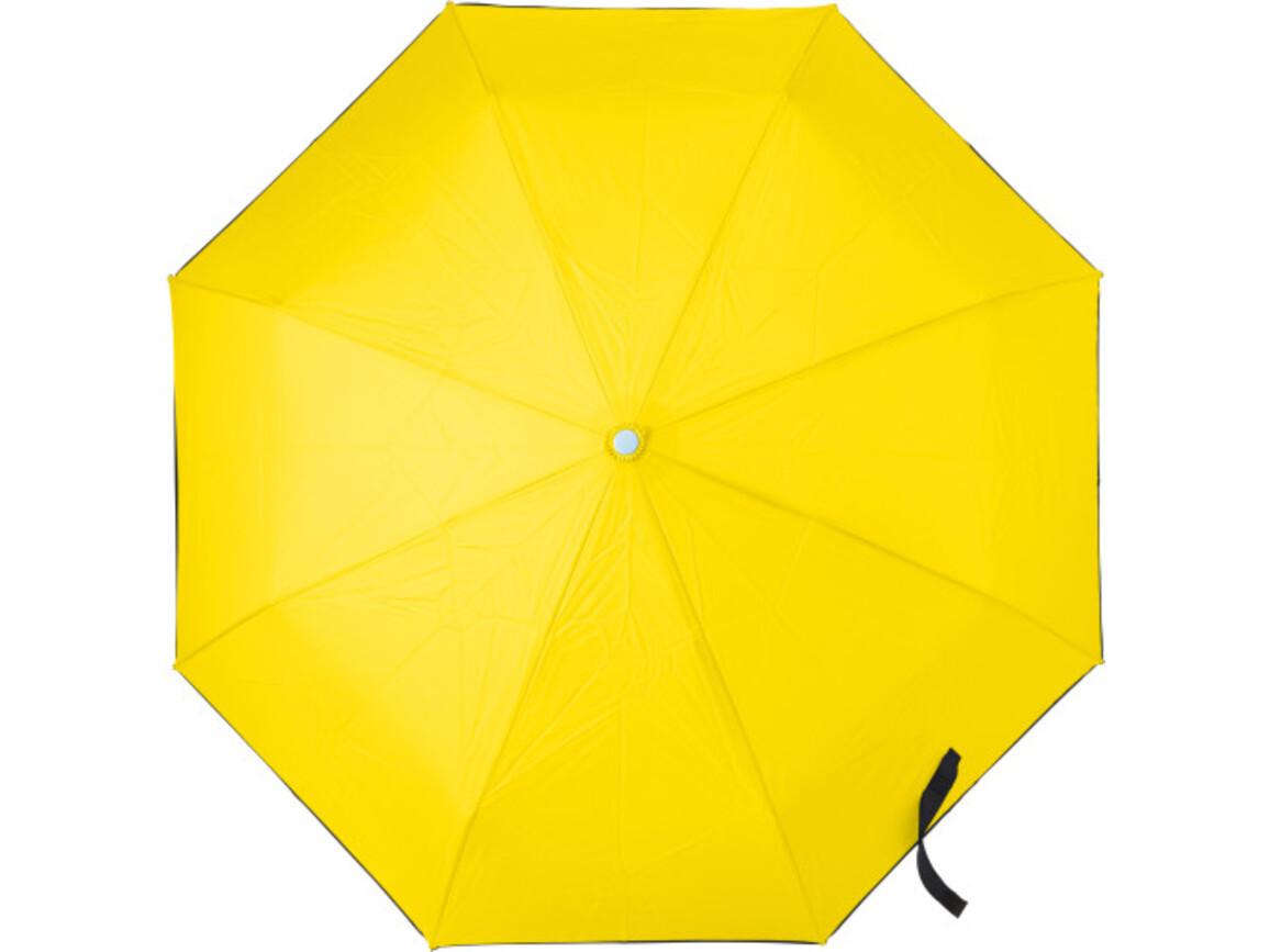 Automatik Taschenschirm 'Dina' aus Pongee-Seide – Gelb bedrucken, Art.-Nr. 006999999_7964