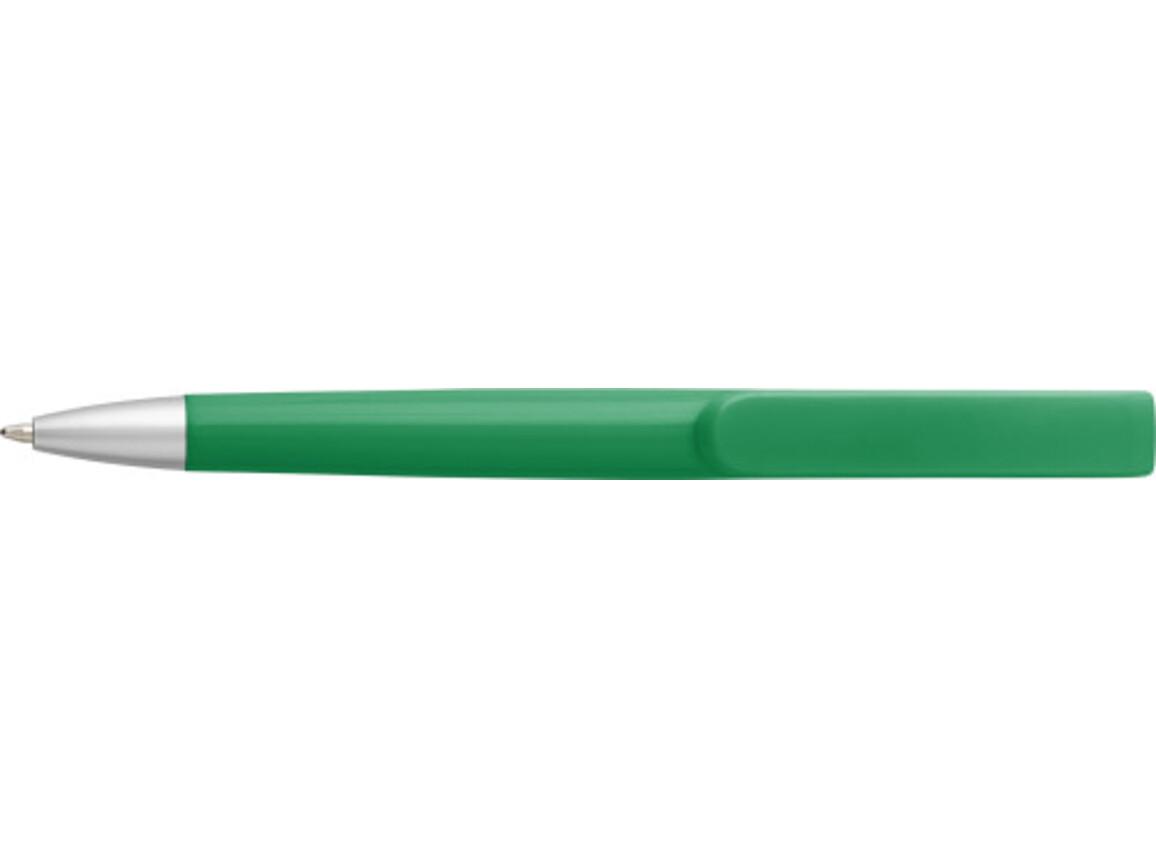 Kugelschreiber 'Smooth' aus Kunststoff – Grün bedrucken, Art.-Nr. 004999999_7971