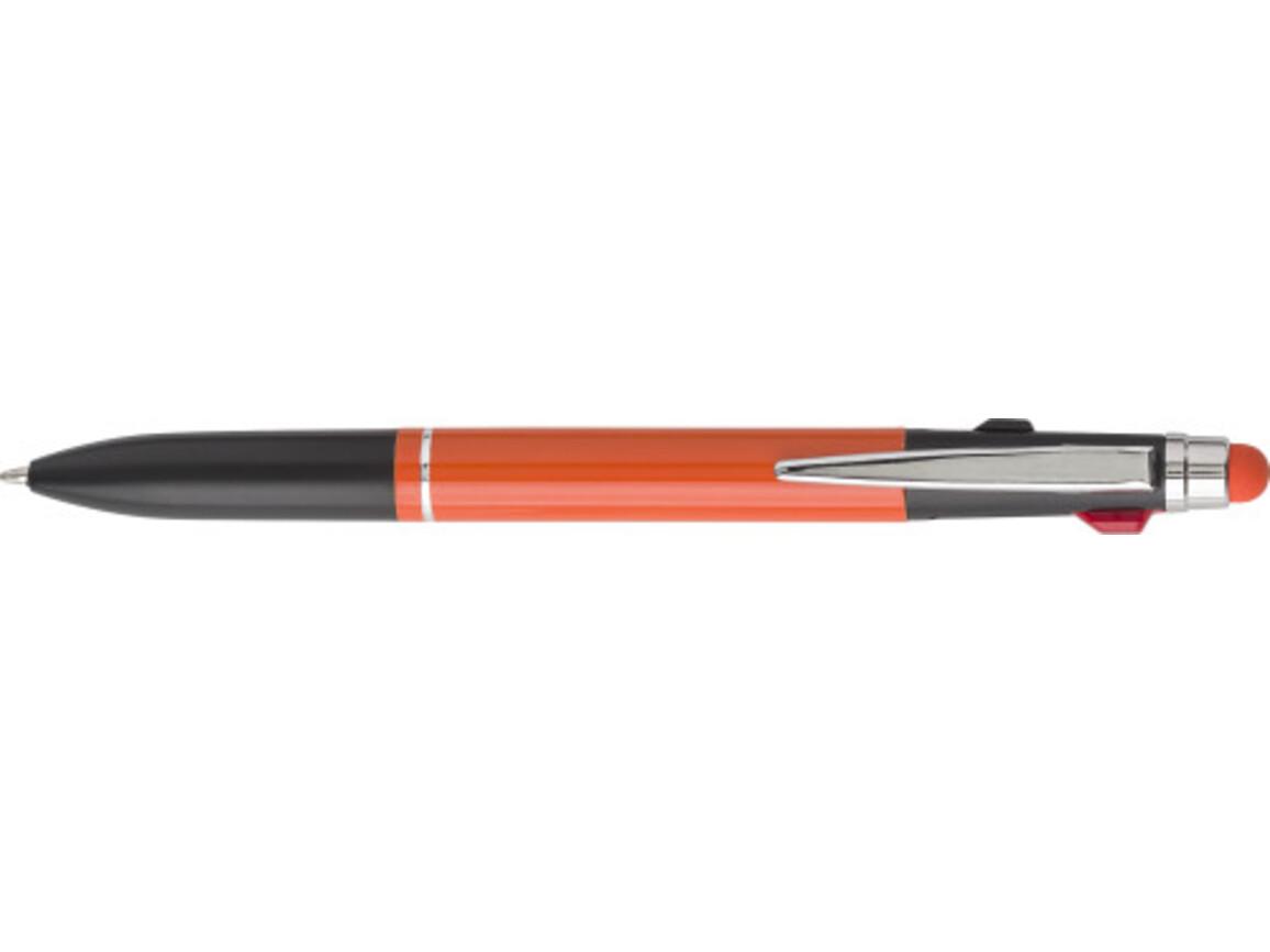 Kugelschreiber 'Elegant' aus Aluminium – Orange bedrucken, Art.-Nr. 007999999_7976