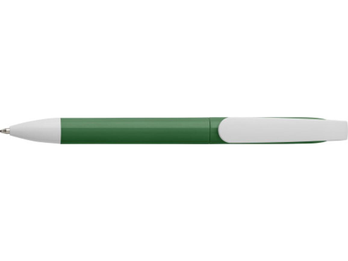 Kugelschreiber 'City' aus Kunststoff – Grün bedrucken, Art.-Nr. 004999999_7978