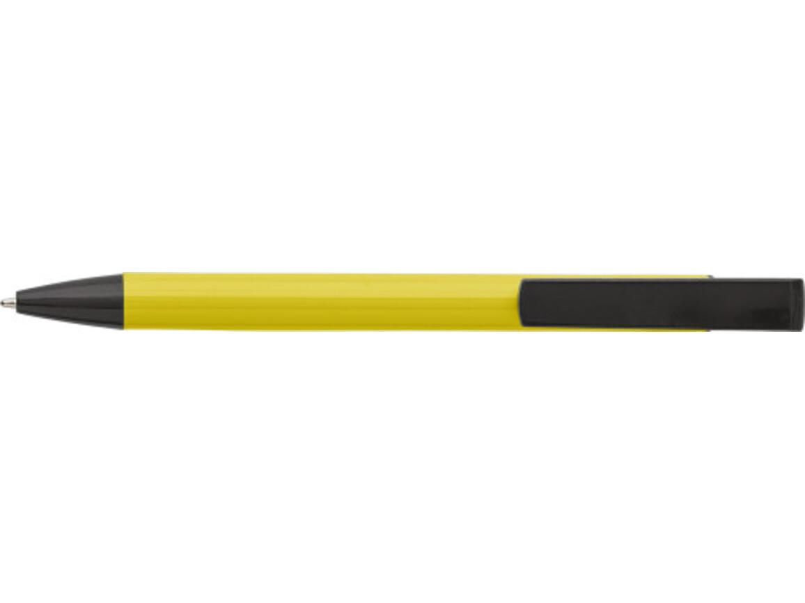Kugelschreiber 'Dual' aus Aluminium – Gelb bedrucken, Art.-Nr. 006999999_7984