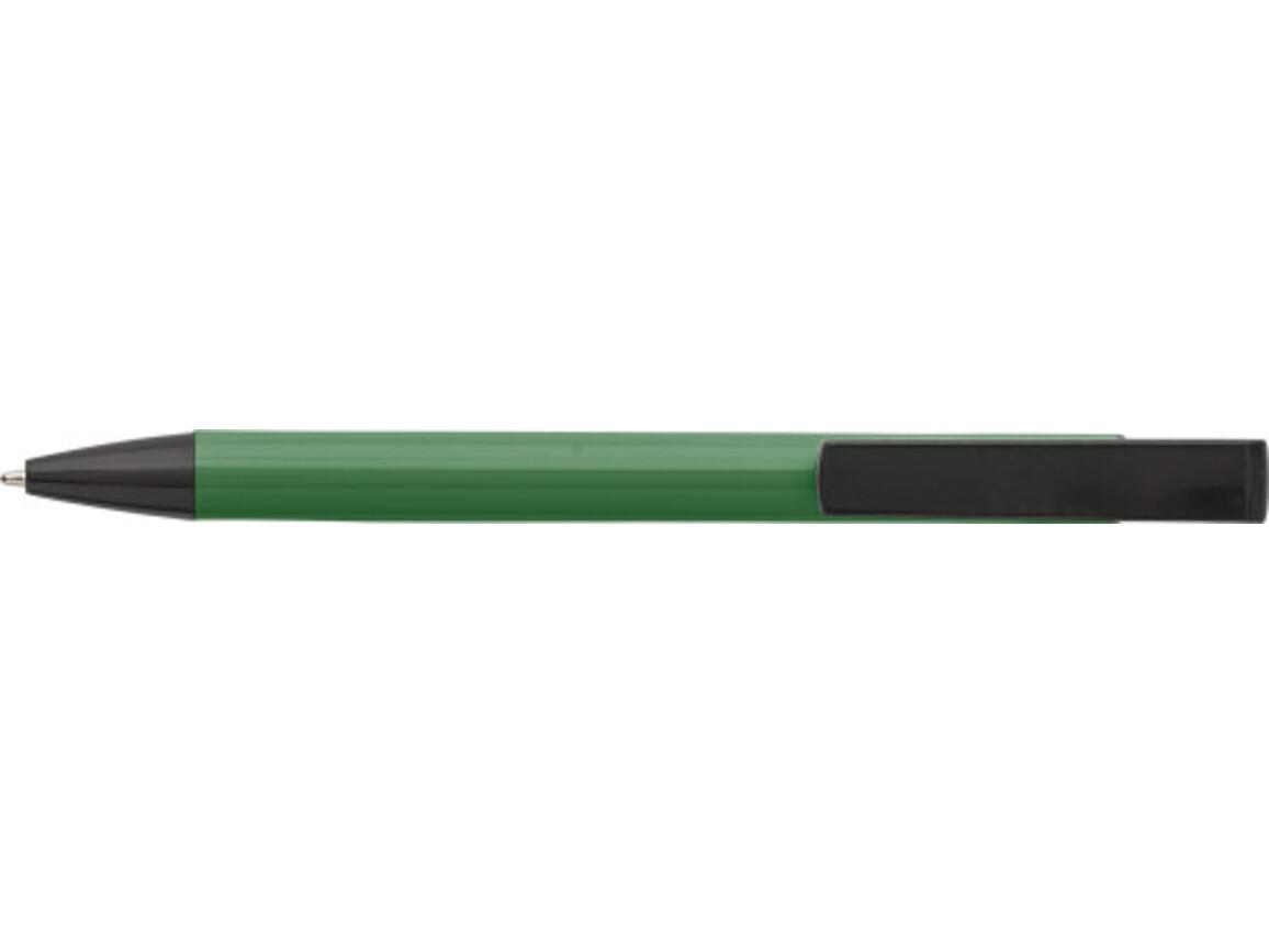 Kugelschreiber 'Dual' aus Aluminium – Grün bedrucken, Art.-Nr. 004999999_7984