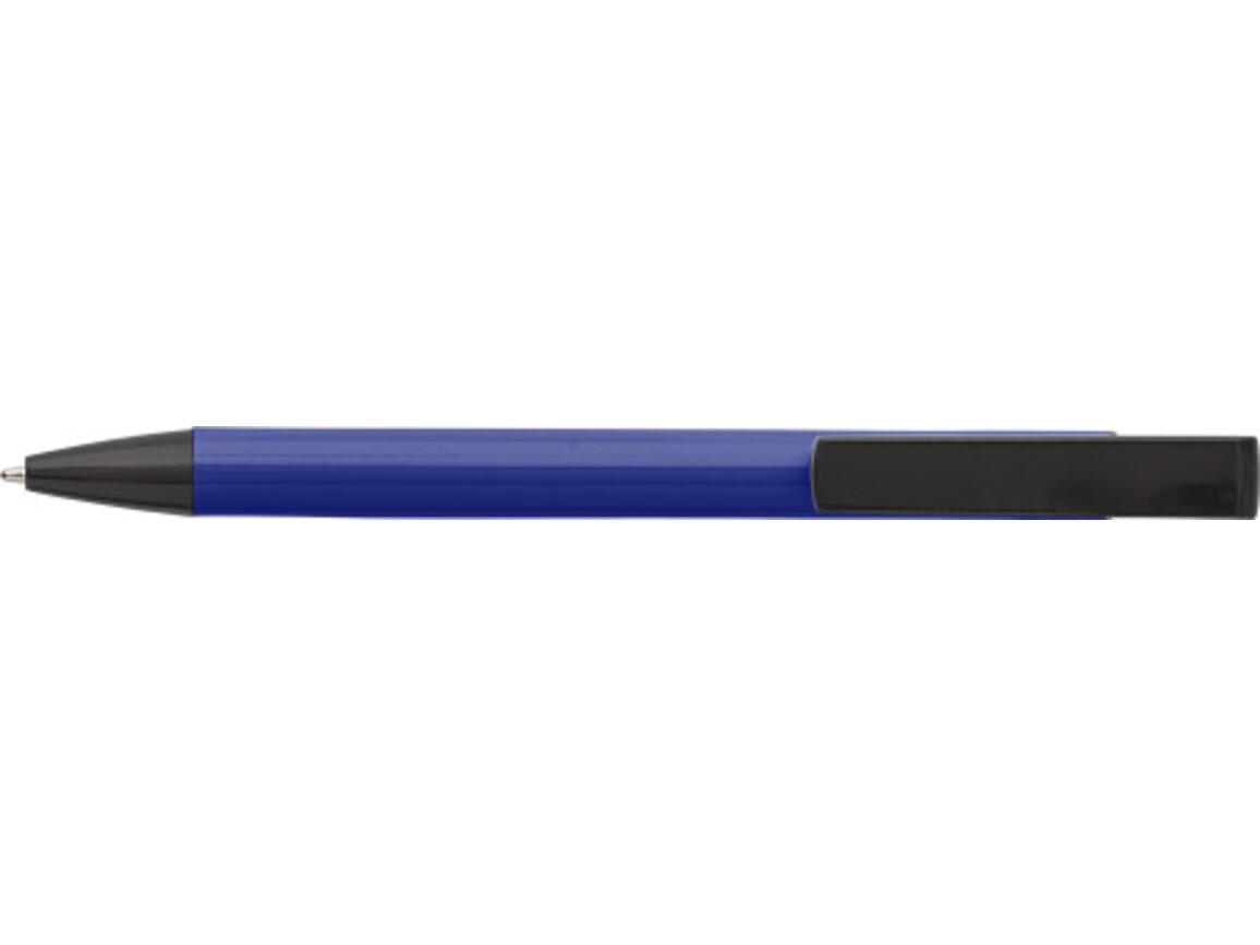 Kugelschreiber 'Dual' aus Aluminium – Blau bedrucken, Art.-Nr. 005999999_7984