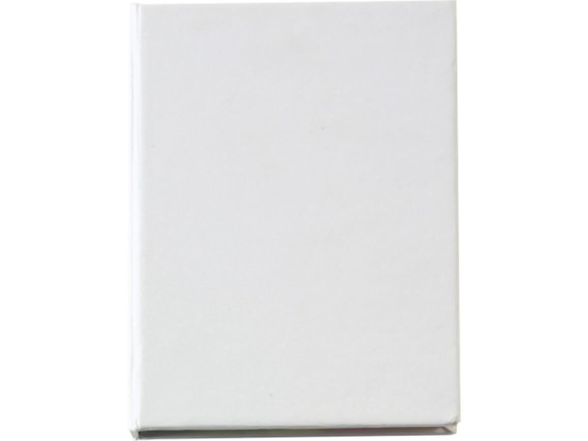 Haftnotizen 'Hurrikan' aus Karton – Weiß bedrucken, Art.-Nr. 002999999_8011