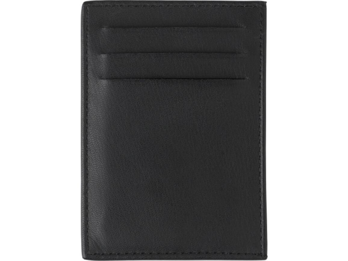 Kreditkartenbörse 'Nolte' aus Spaltleder – Schwarz bedrucken, Art.-Nr. 001999999_8058