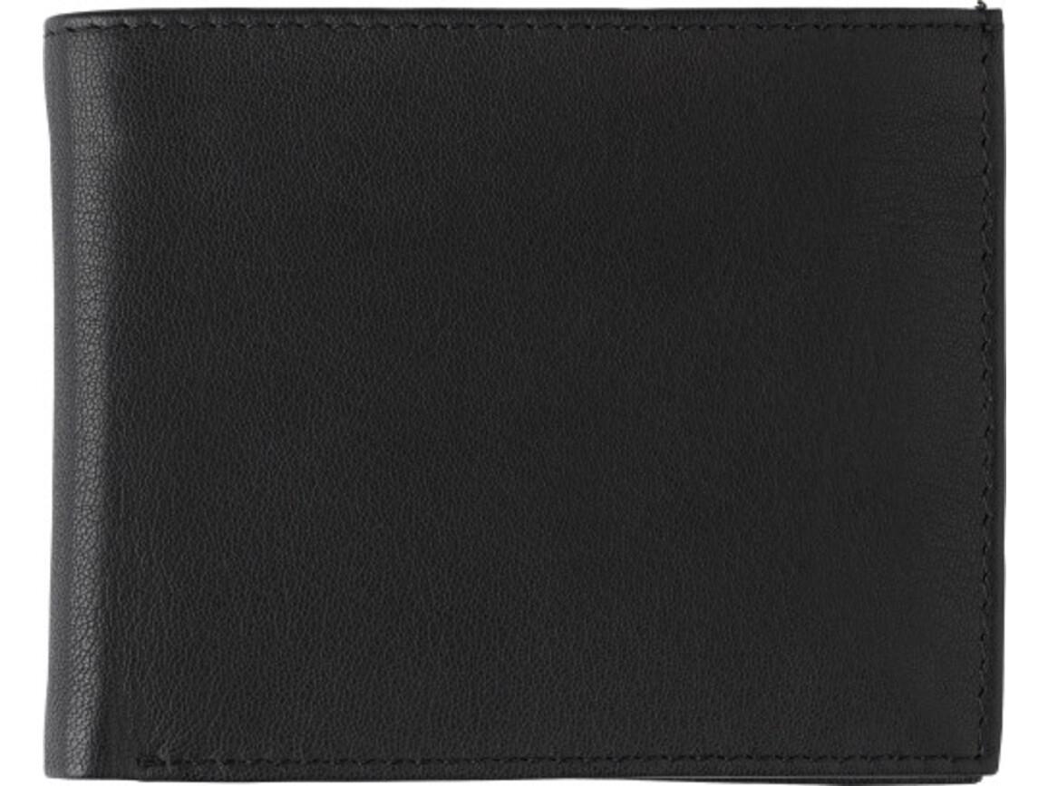 Geldbörse 'Harold' aus Spaltleder – Schwarz bedrucken, Art.-Nr. 001999999_8064
