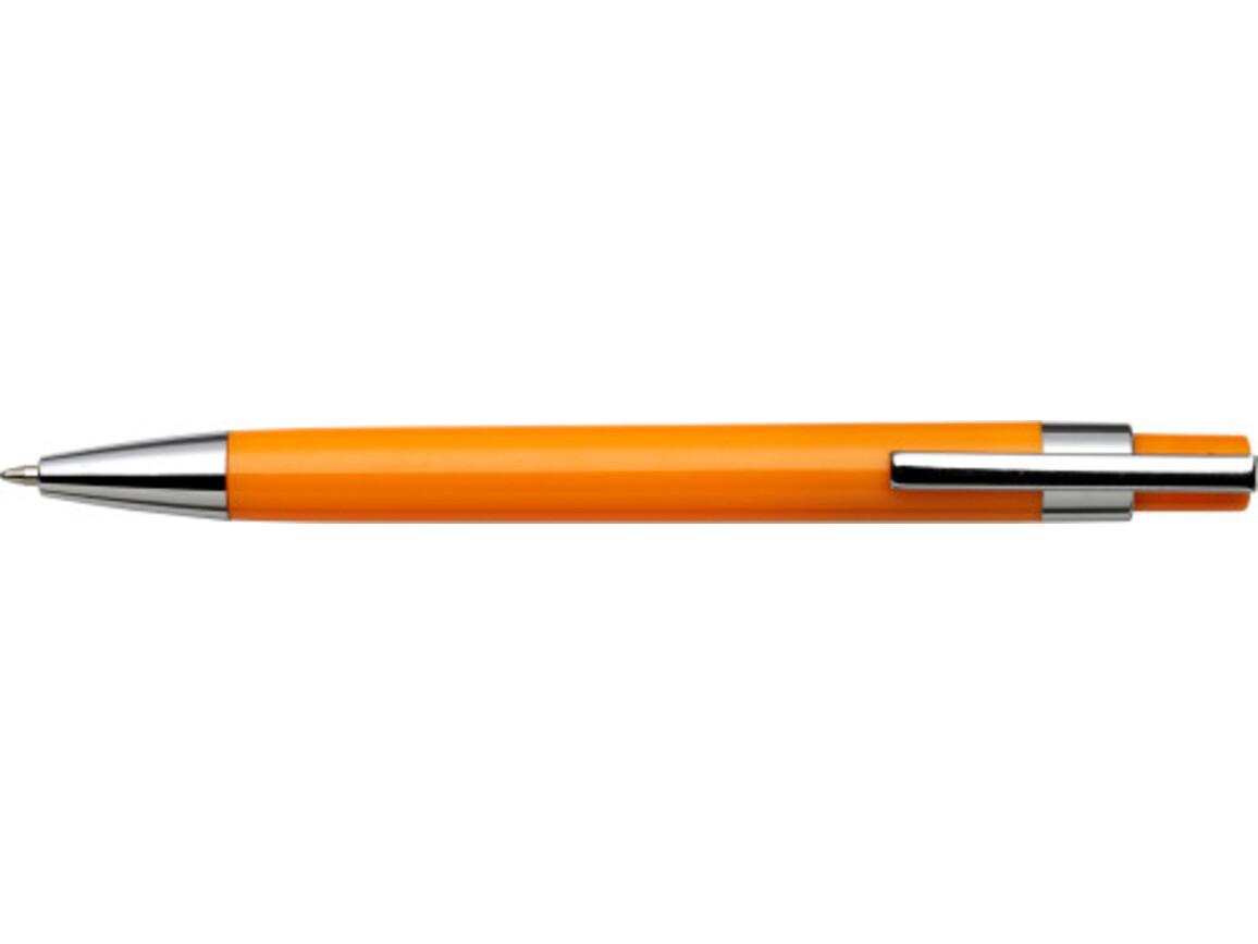 Kugelschreiber 'Mataro' aus Kunststoff – Orange bedrucken, Art.-Nr. 007999999_8121