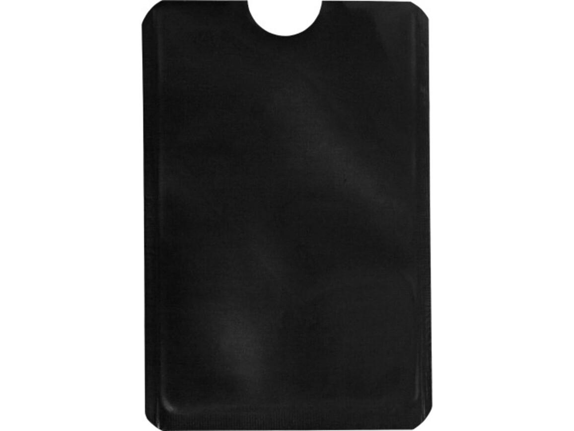 Kartenhalter 'Check' aus Aluminium – Schwarz bedrucken, Art.-Nr. 001999999_8185