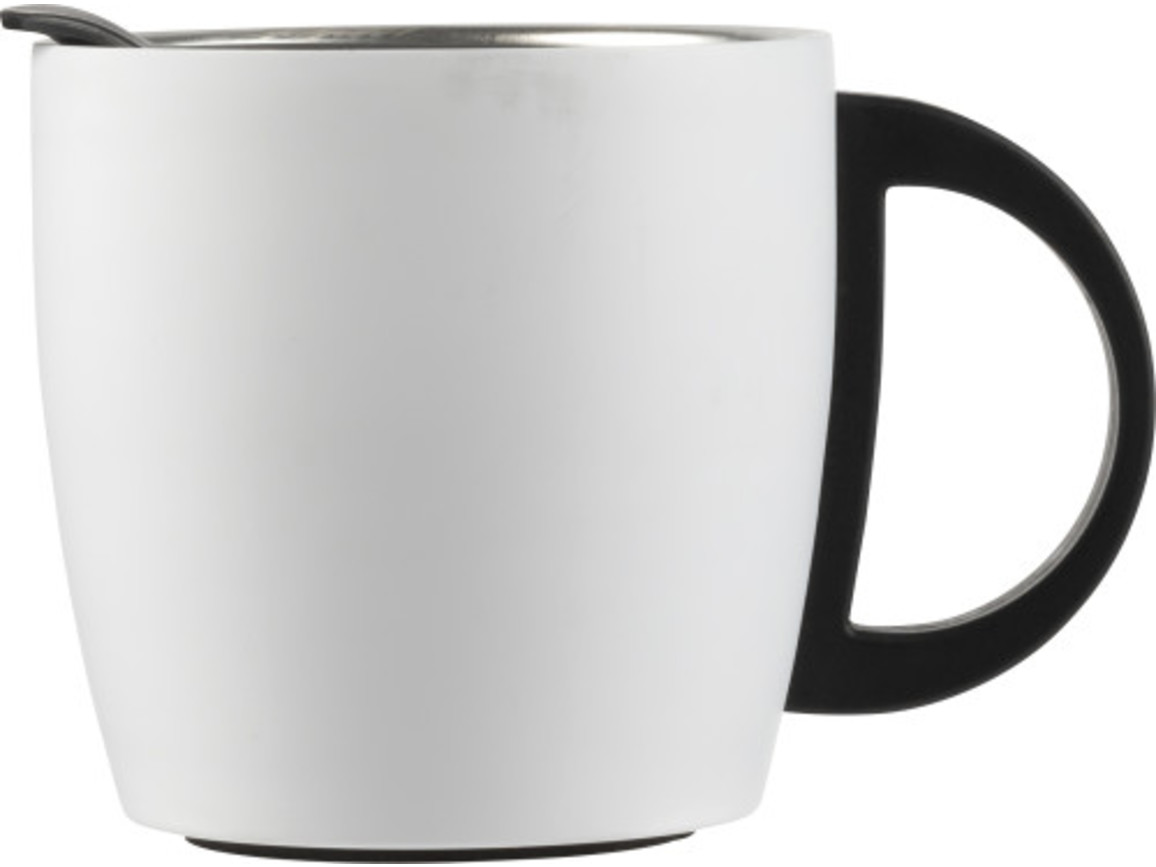 Doppelwandiger Kaffeebecher 'Cowboy' aus Edelstahl (350 ml) – Weiß bedrucken, Art.-Nr. 002999999_8227