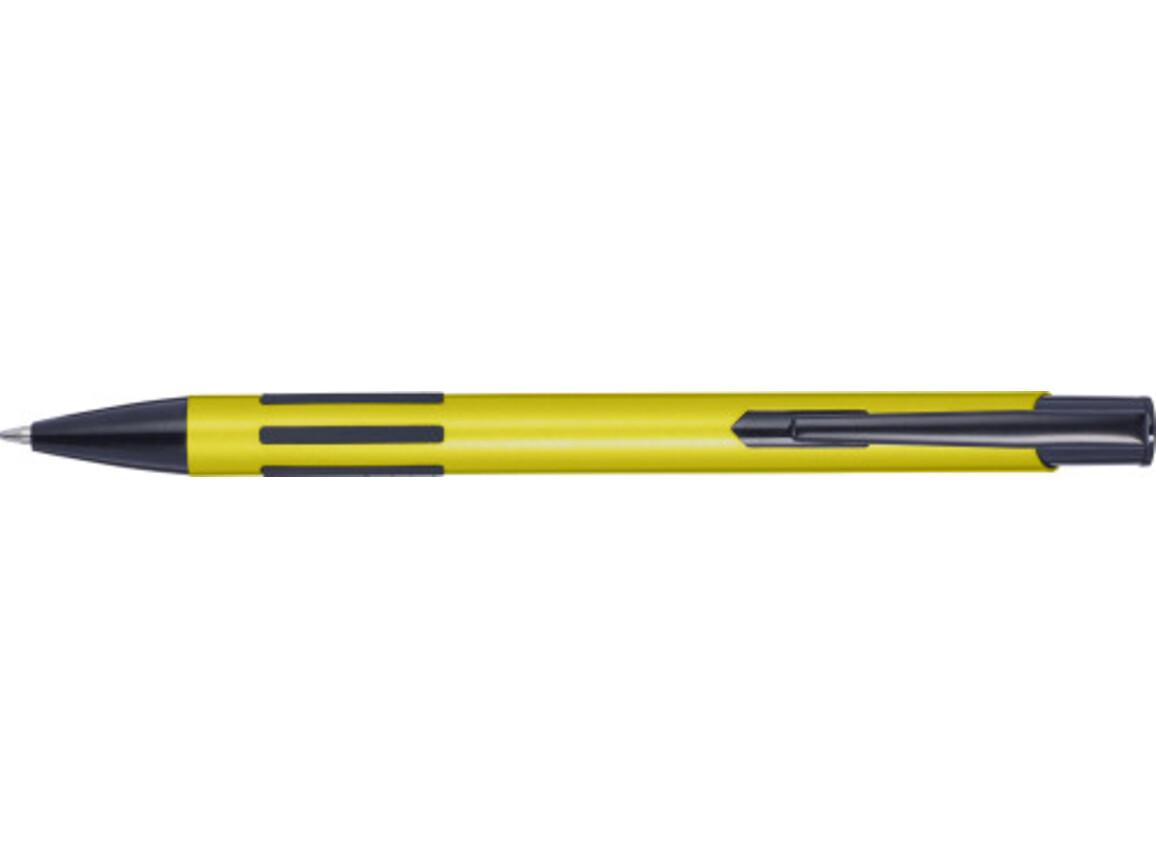 Metall-Kugelschreiber 'Stripes' – Gelb bedrucken, Art.-Nr. 006999999_8239