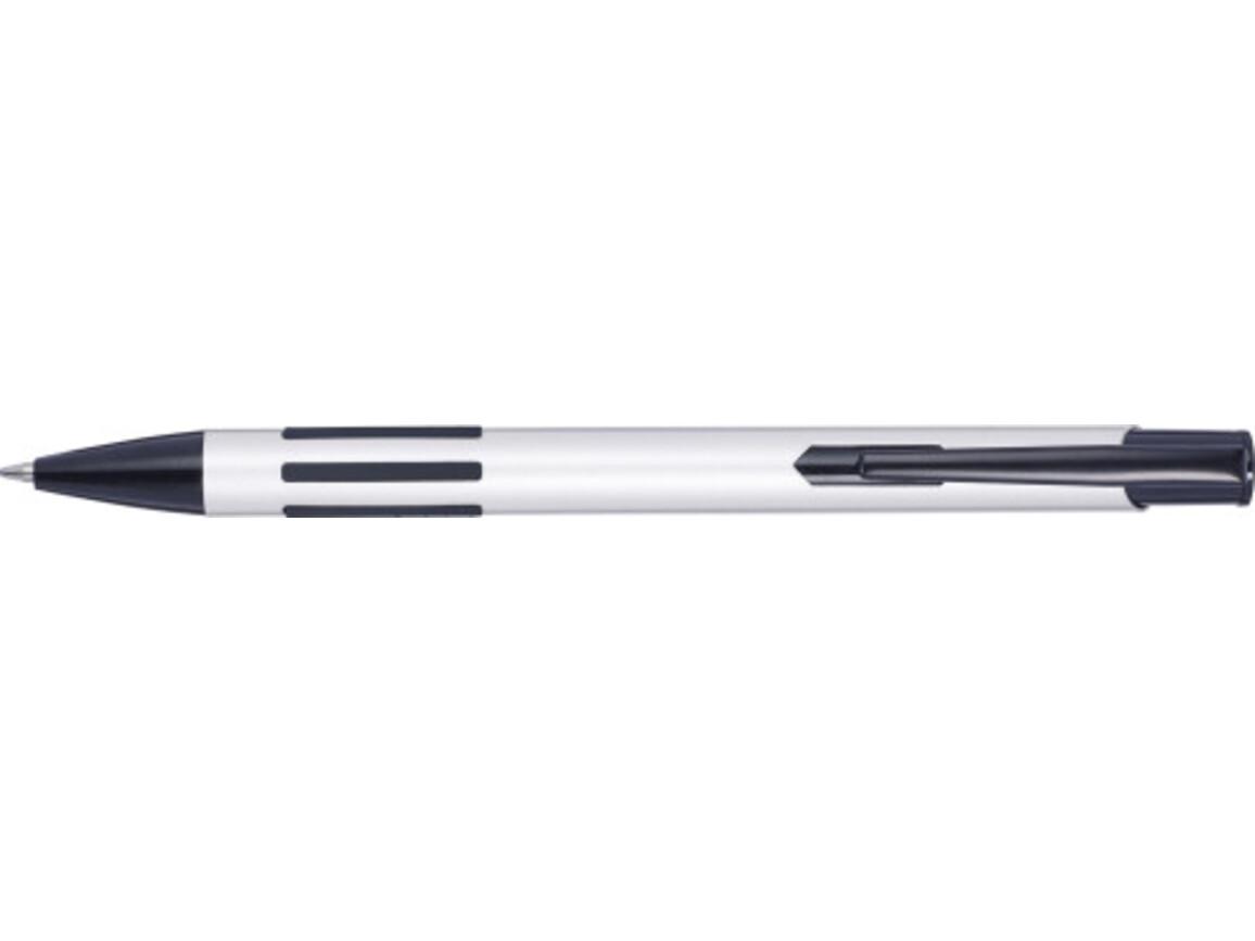 Metall-Kugelschreiber 'Stripes' – Weiß bedrucken, Art.-Nr. 002999999_8239