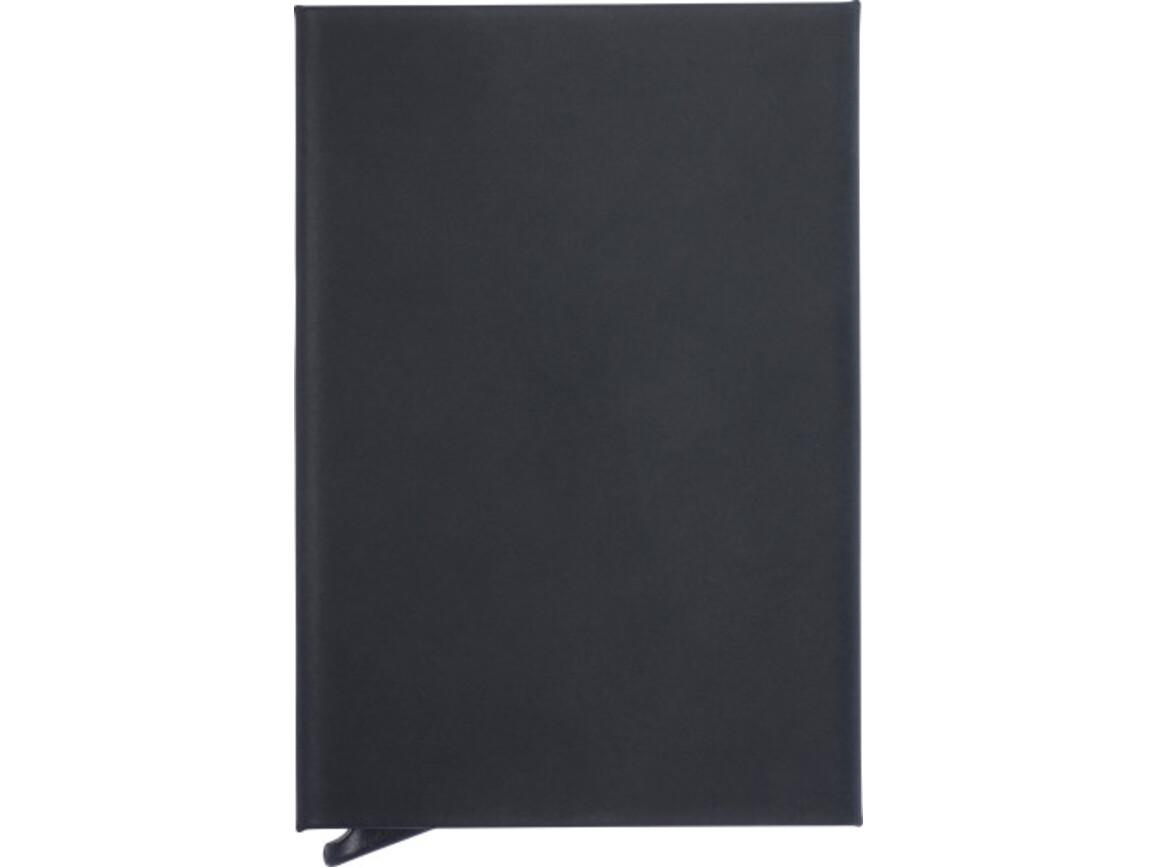 Kartenhalter 'Purse' aus Aluminium RFID mit Softtouch Oberfläche – Schwarz bedrucken, Art.-Nr. 001999999_8241