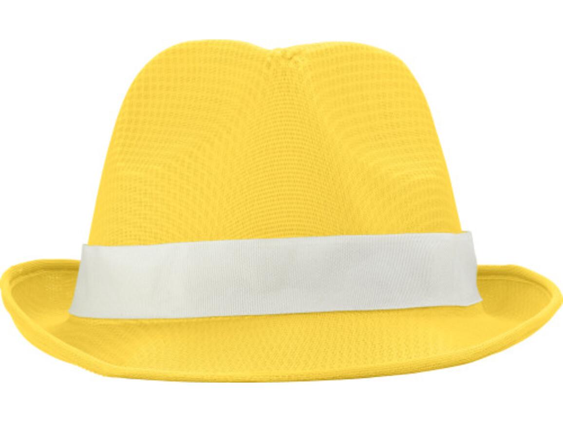 Hut 'Havanna' aus Polyester – Gelb bedrucken, Art.-Nr. 006999999_8246