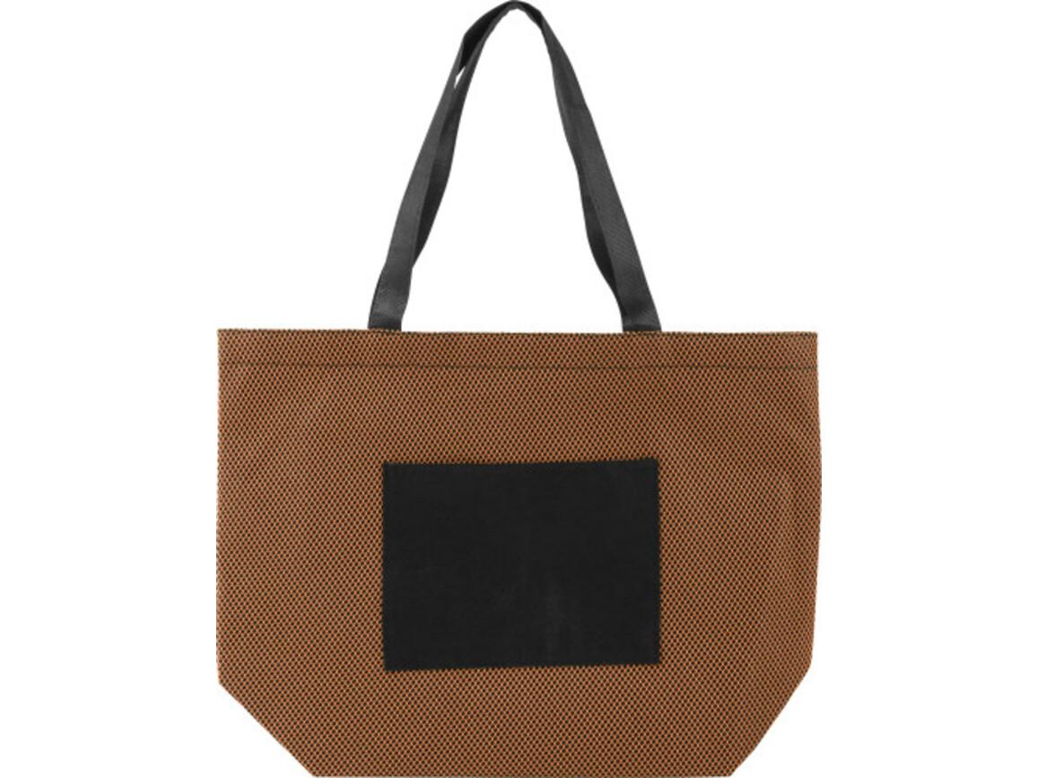 Einkaufstasche 'Nina' aus Non-Woven – Orange bedrucken, Art.-Nr. 007999999_8275