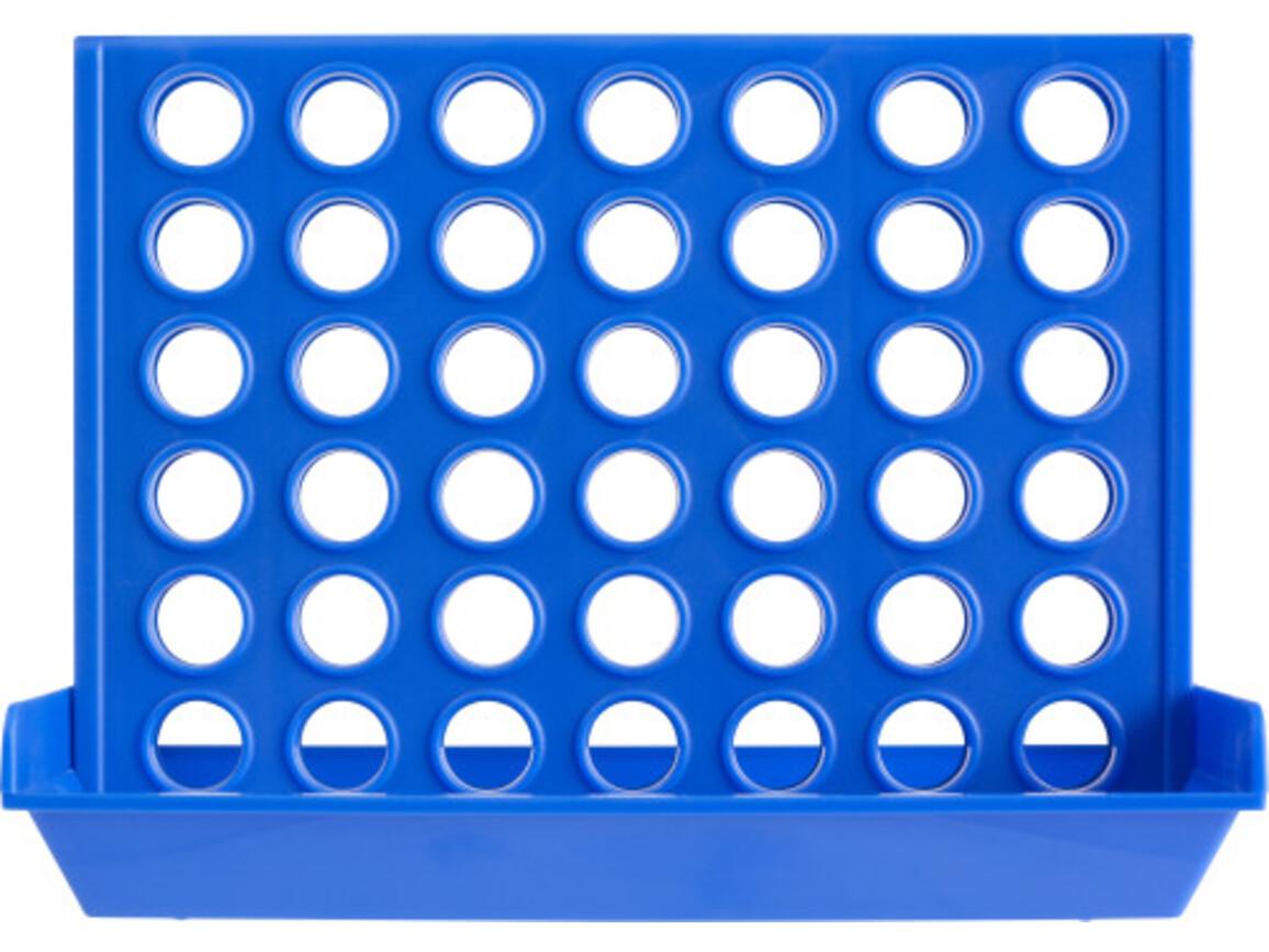 Reisespiel 'Four', 4 in einer Reihe – Blau bedrucken, Art.-Nr. 005999999_8280