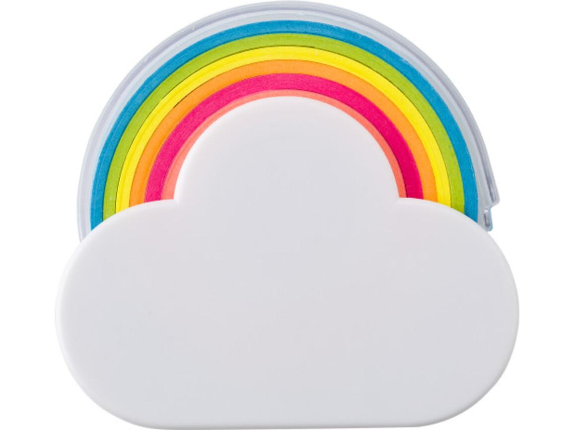 Klebeband-Spender 'Rainbow' in Wolkenform – Weiß bedrucken, Art.-Nr. 002999999_8285