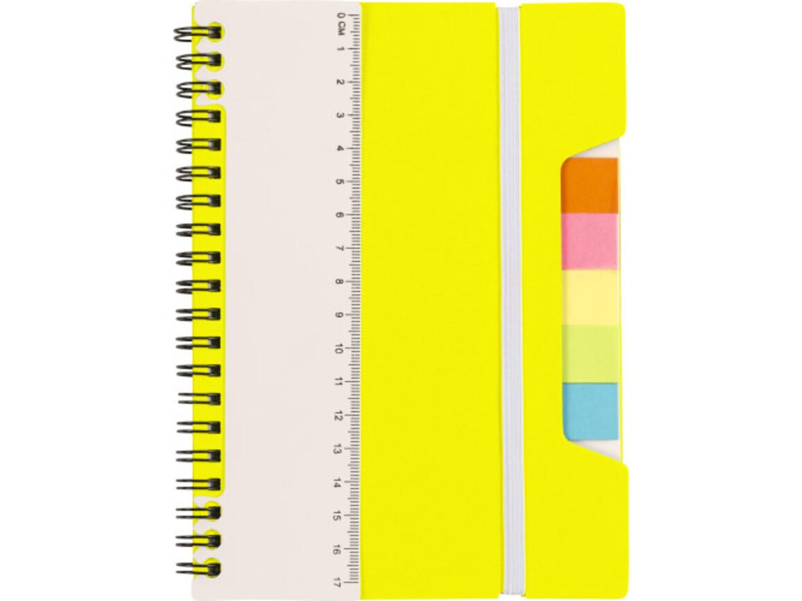 Notizbuch 'Lineal' mit Ringbindung – Gelb bedrucken, Art.-Nr. 006999999_8300