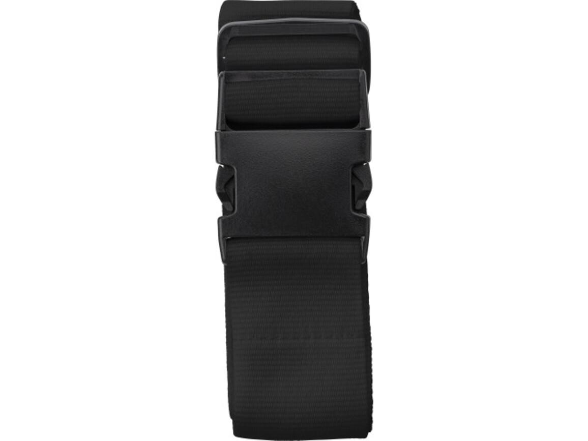 Gepäckgurt 'Hongkong' aus Polyester – Schwarz bedrucken, Art.-Nr. 001999999_8405