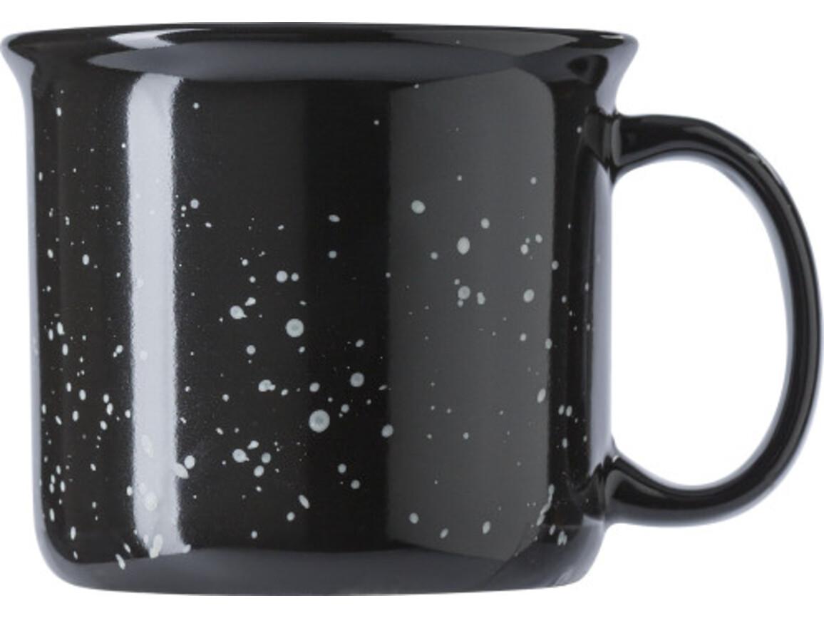 Kaffeebecher 'Vintage' (450 ml) aus Keramik – Schwarz bedrucken, Art.-Nr. 001999999_8449