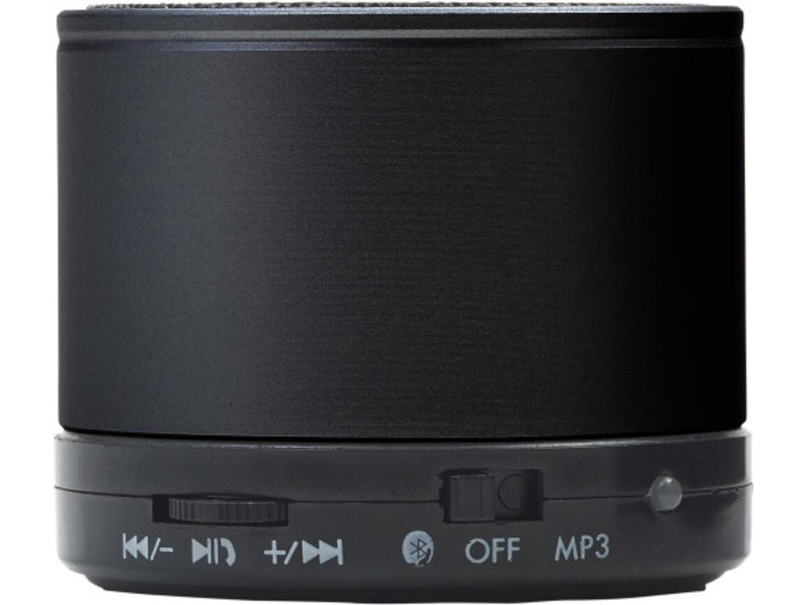 Wireless Lautsprecher 'Emotion' aus Metall – Schwarz bedrucken, Art.-Nr. 001999999_8459