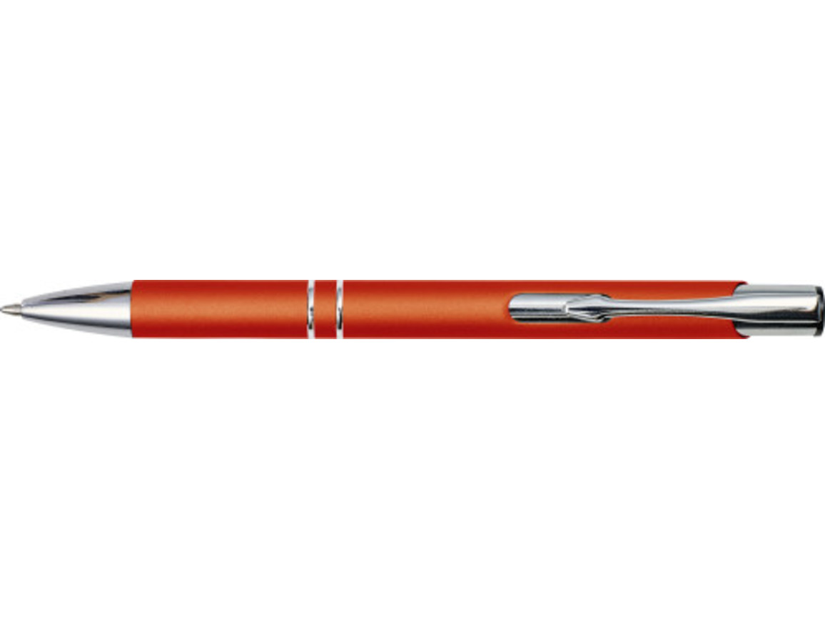 Kugelschreiber 'Albatros' aus Metall – Orange bedrucken, Art.-Nr. 007999999_8476
