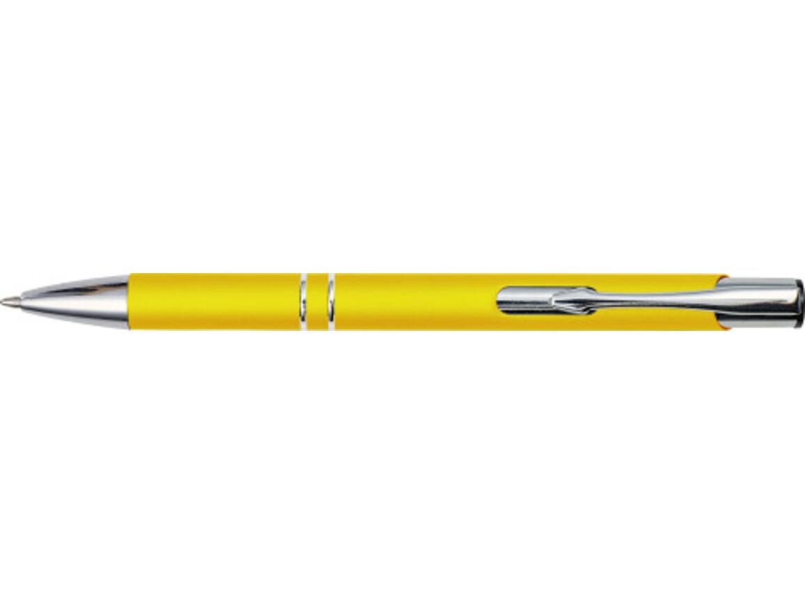 Kugelschreiber 'Albatros' aus Metall – Gelb bedrucken, Art.-Nr. 006999999_8476