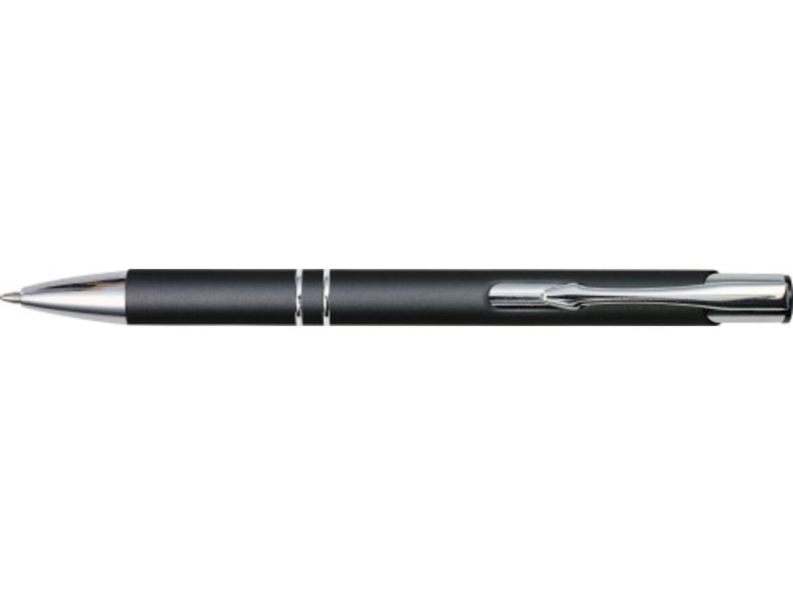 Kugelschreiber 'Albatros' aus Metall – Schwarz bedrucken, Art.-Nr. 001999999_8476