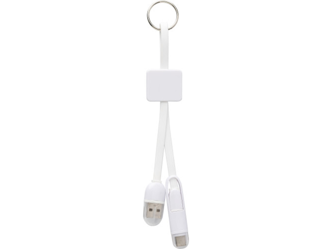 Ladekabel 'Charing' aus Kunststoff – Weiß bedrucken, Art.-Nr. 002999999_8478