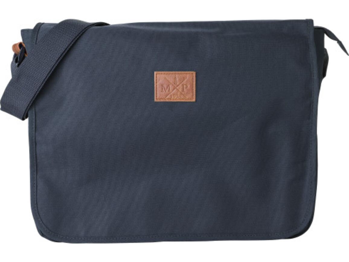 Schultertasche 'Delivery' aus 600D Polyester – Blau bedrucken, Art.-Nr. 005999999_8494