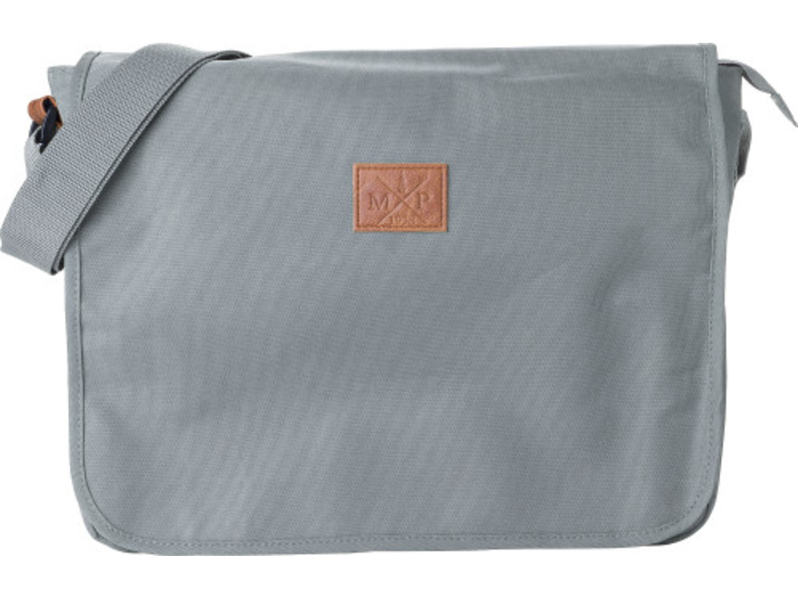 Schultertasche 'Delivery' aus 600D Polyester – Grau bedrucken, Art.-Nr. 003999999_8494